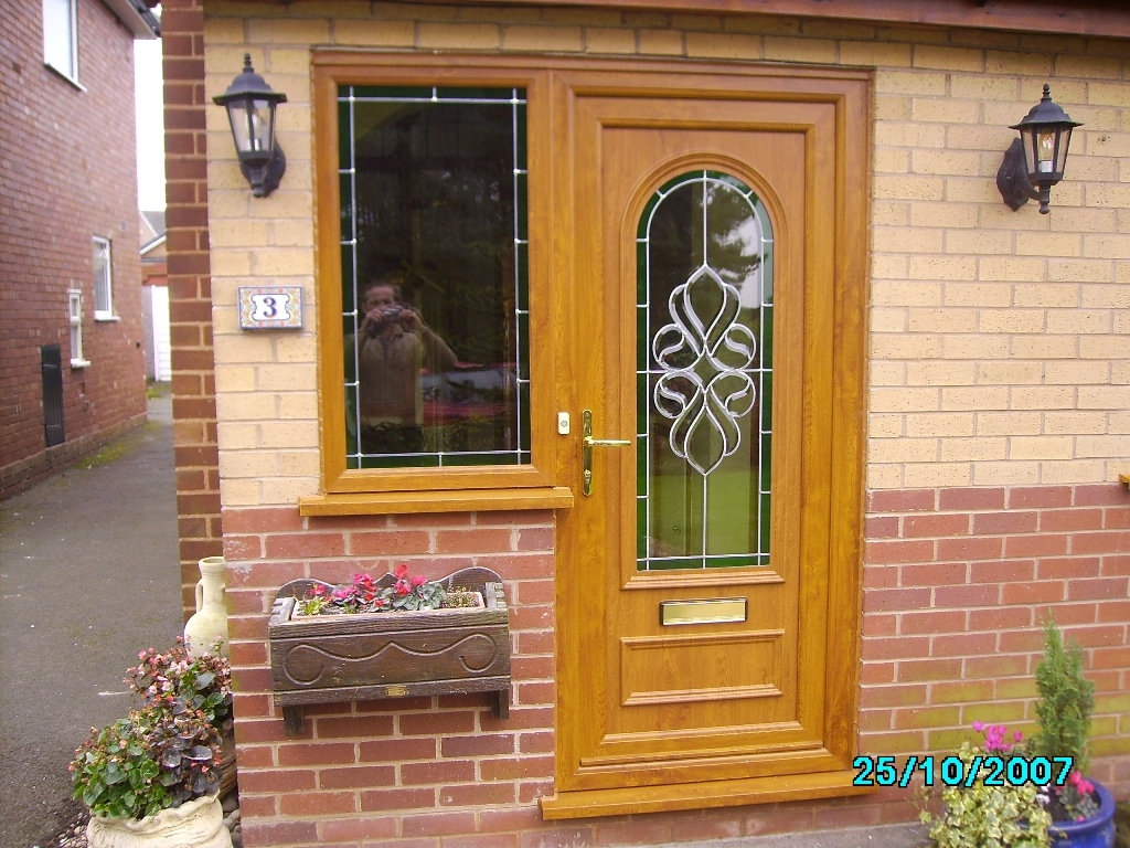 Fitted upvc front and back doors in walsall 01922 400074 for Exterior doors fitted
